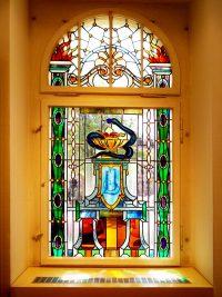 historisches Butzenglasfenster